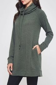 Beeson River Cowl Tunic-Pocket Top - Front full body