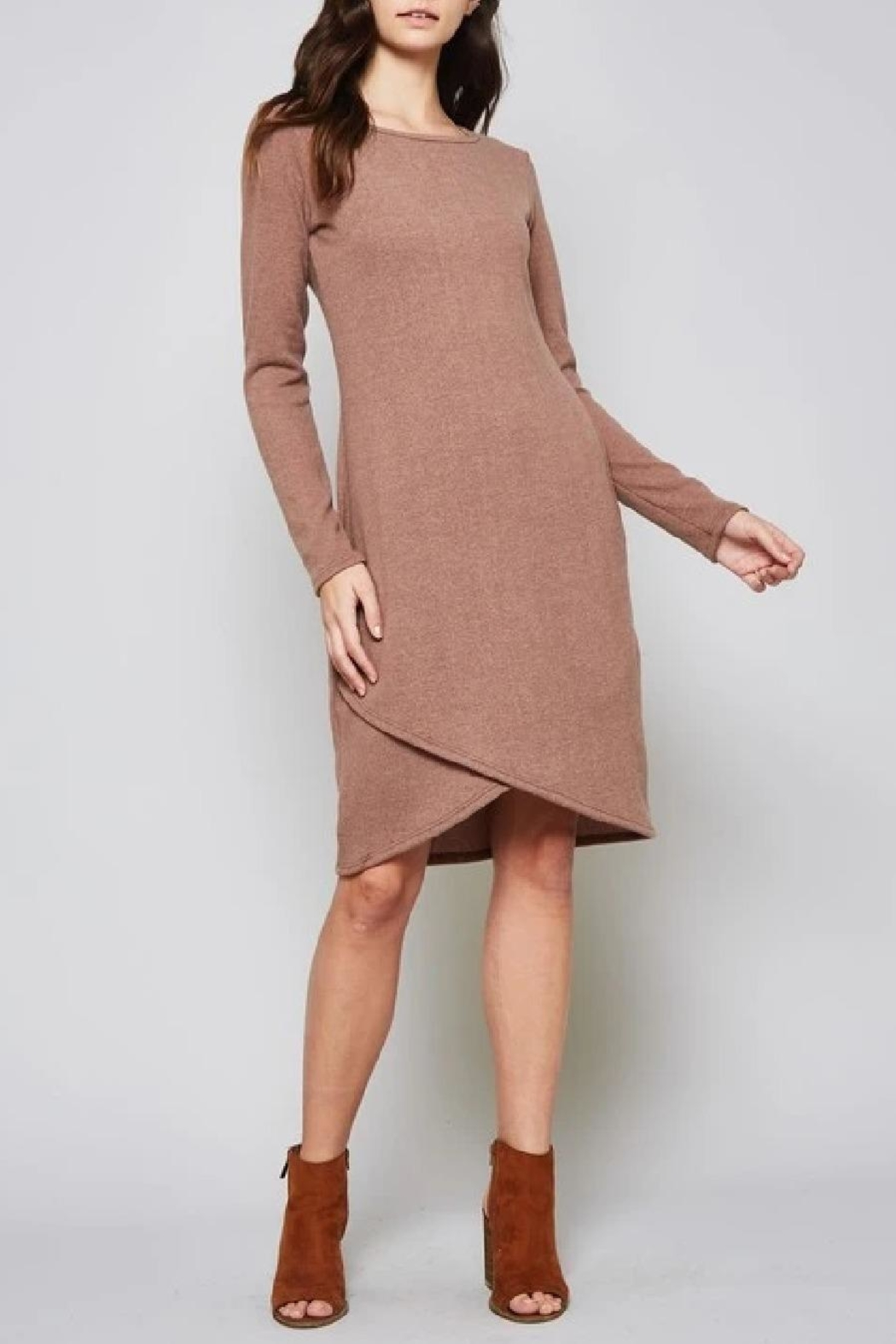 Beeson River Solid Sweater Dress - Front Full Image