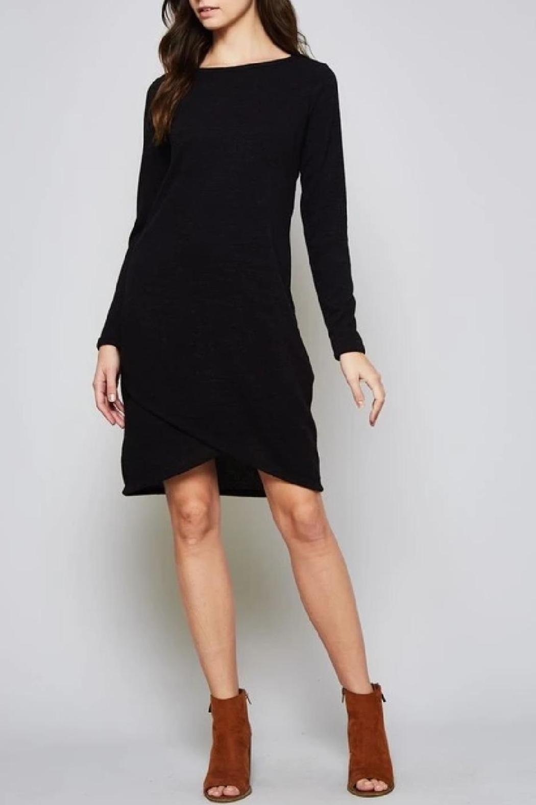 Beeson River Solid Sweater Dress - Side Cropped Image