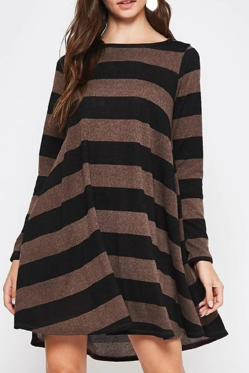 Beeson River Striped Tunic-Pocket Dress - Main Image