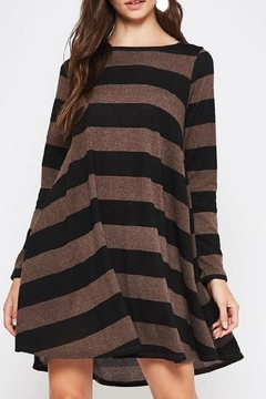 Shoptiques Product: Striped Tunic-Pocket Dress
