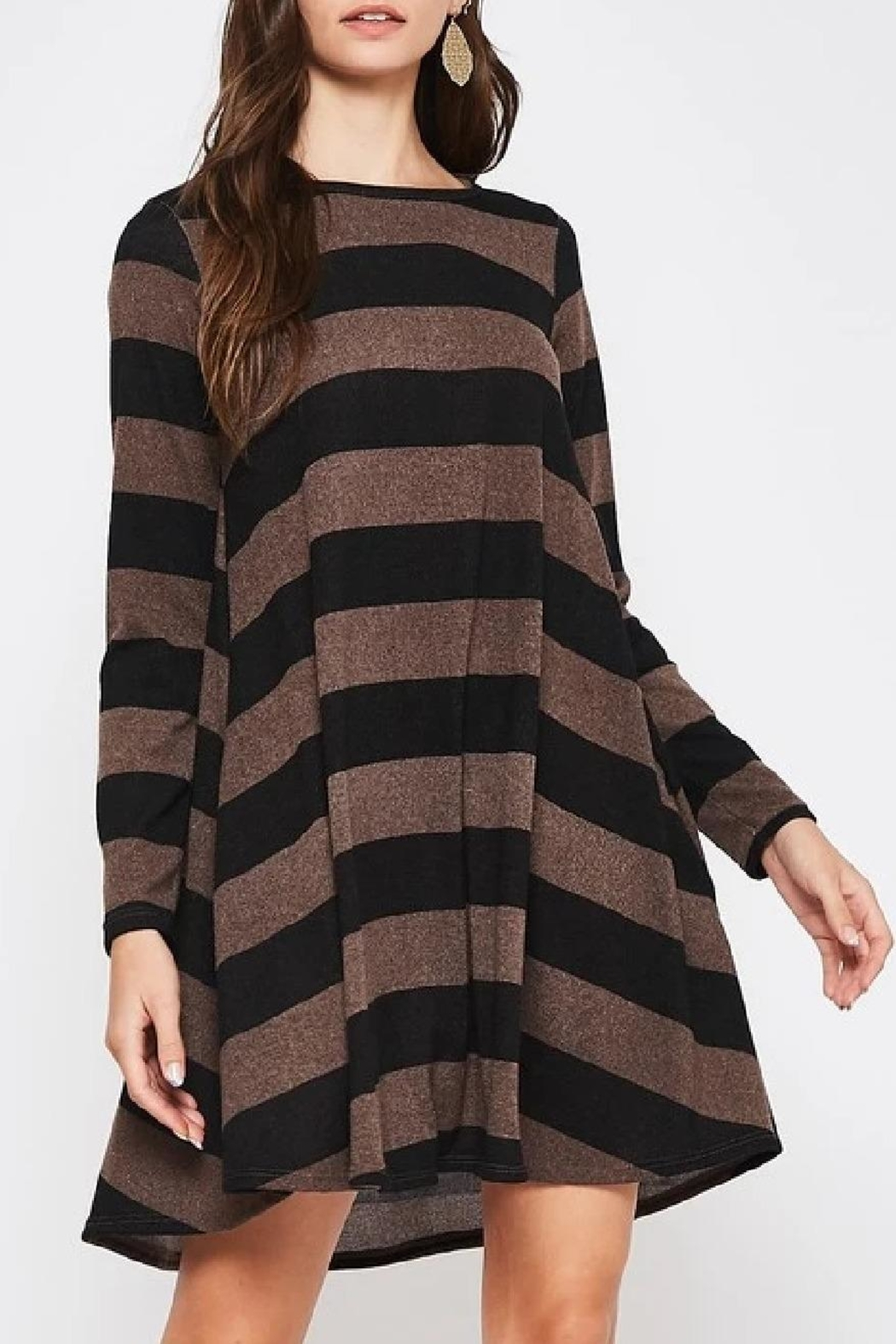 Beeson River Striped Tunic-Pocket Dress - Front Full Image