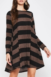 Beeson River Striped Tunic-Pocket Dress - Front full body