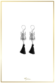 Malia Jewelry Beetle Tassel Earrings - Product Mini Image
