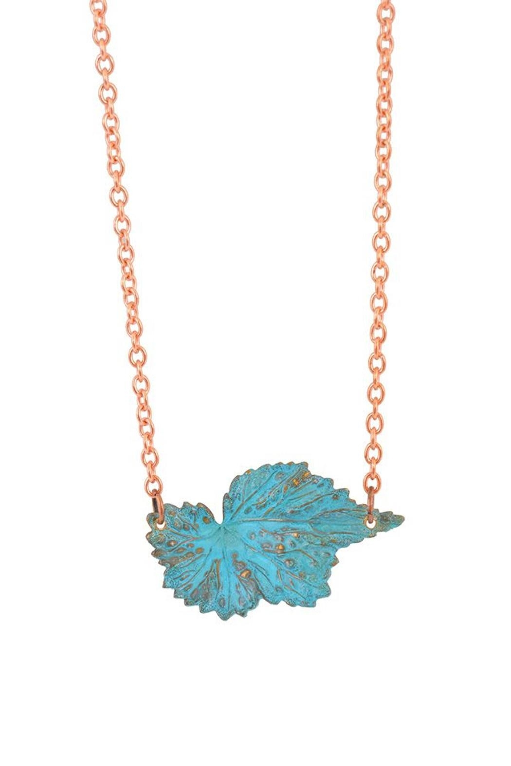 We Dream In Colour Begonia Hand Painted Necklace - Main Image