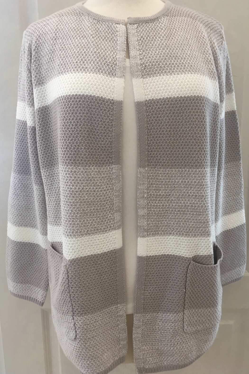 Marble Beige and cream cardigan sweater - Main Image