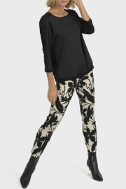 Joseph Ribkoff USA Inc. Beige + Black Print Pant - Product Mini Image