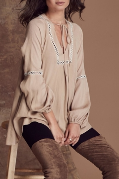 Noa Elle Beige Boho Tunic - Alternate List Image