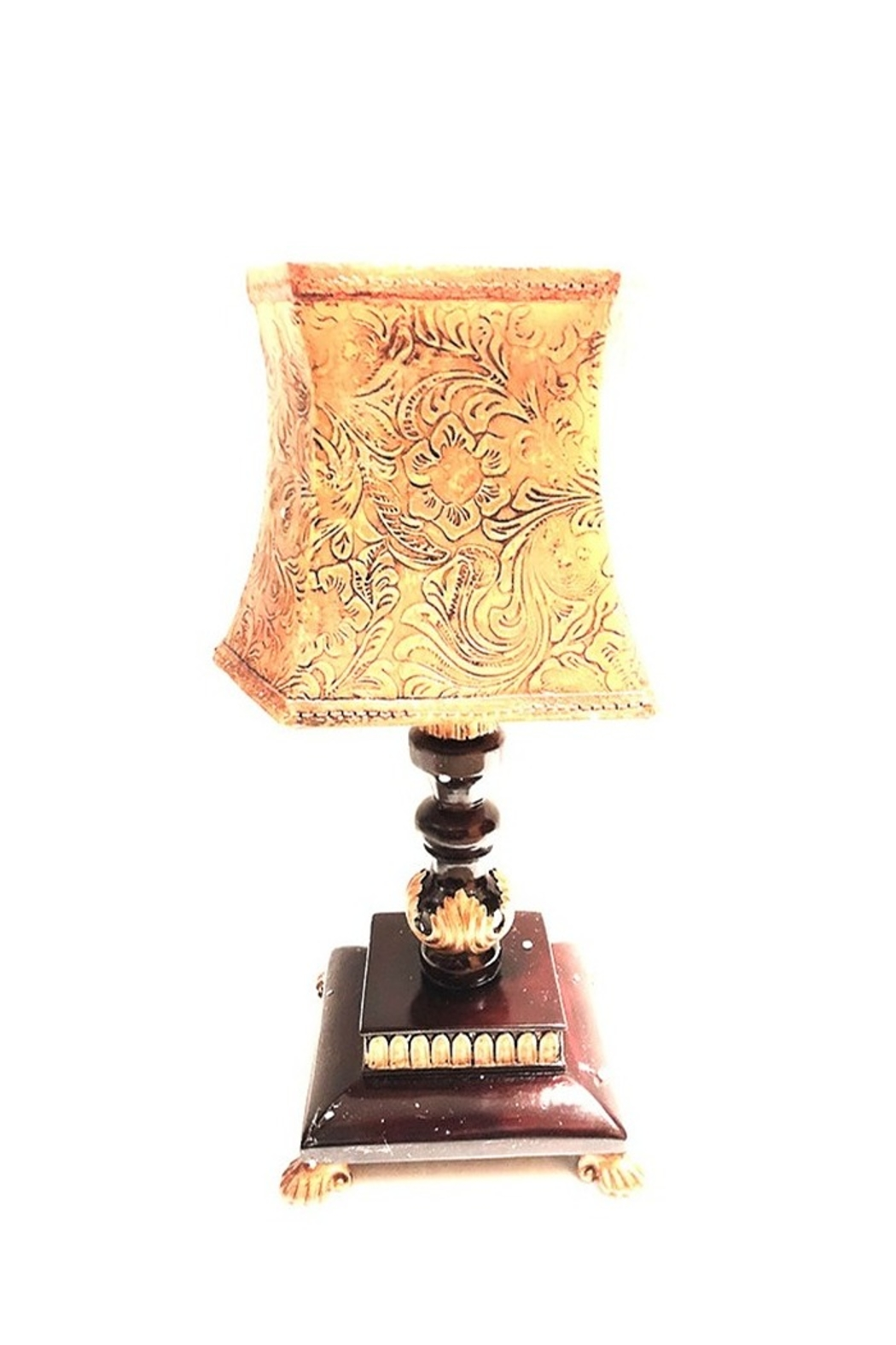 House of Zog Beige Candle Lamp W/ Fancy Holder - Main Image