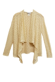 Emma G Beige Chevron Cardigan - Product Mini Image