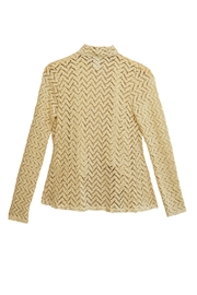 Emma G Beige Chevron Cardigan - Front full body