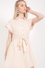 Love Riche Beige Cotton Dress - Product Mini Image
