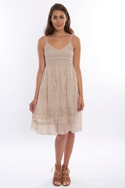 B&K moda Beige Crochet Sundress - Product Mini Image