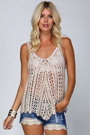 People Outfitter Beige Crochet Top - Product Mini Image