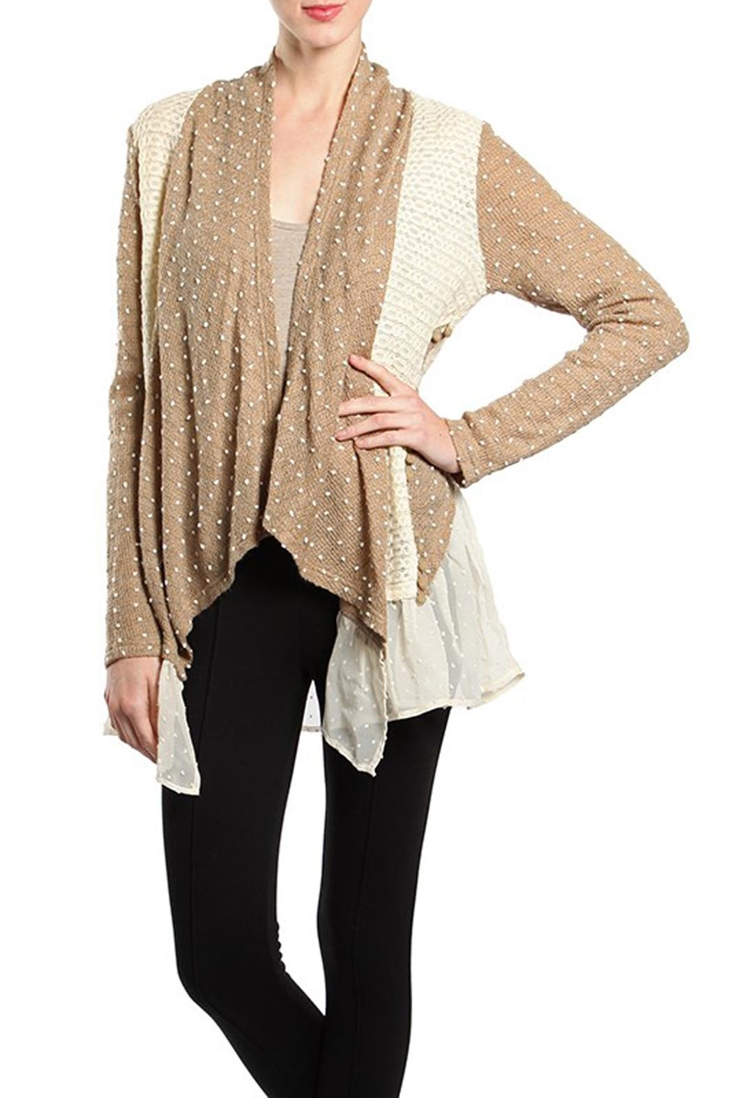 a7b70c01ba6369 The Vintage Valet Beige Dot Cardigan from Pittsburgh — Shoptiques