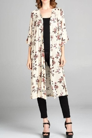 Tresics Beige Floral Cardigan - Product Mini Image