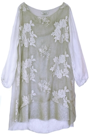 ANTONELLO SERIO Beige Floral Embroidery - Front cropped