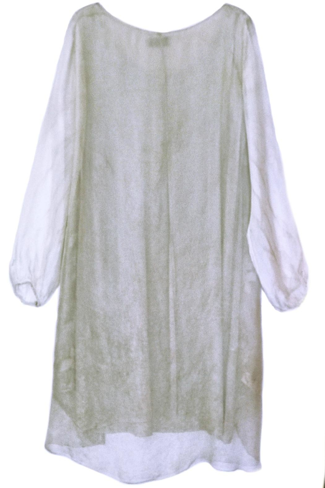 ANTONELLO SERIO Beige Floral Embroidery - Front Full Image