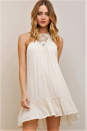 People Outfitter Beige Halter Dress - Product Mini Image