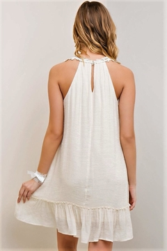 People Outfitter Beige Halter Dress - Alternate List Image