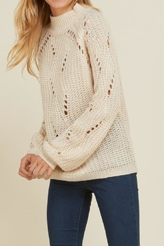 annabelle Beige Holes Sweater - Product List Image