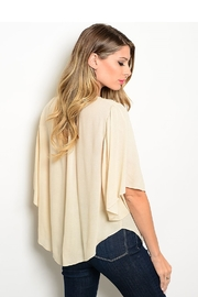 WFS Beige & Ivory Lace Mid Sleeve Top - Product Mini Image