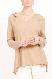 Love Stitch Beige Knit Hoodie - Product Mini Image