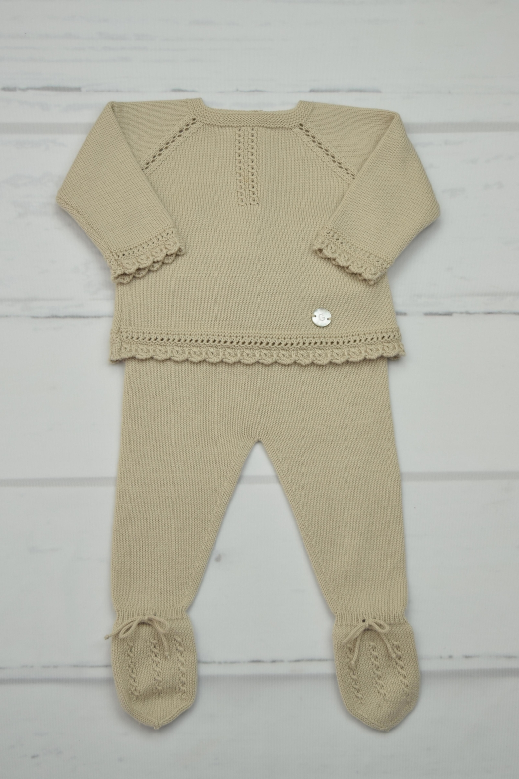 Granlei 1980 Beige Knitted Outfit - Main Image