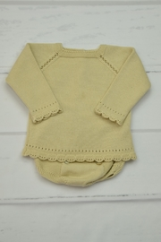 Granlei 1980 Beige Knitted Outfit - Front cropped