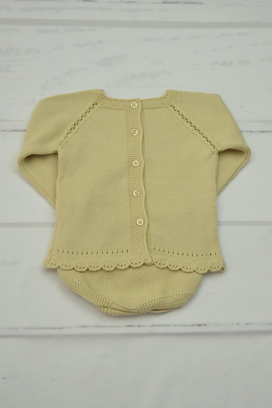 Granlei 1980 Beige Knitted Outfit - Front Full Image