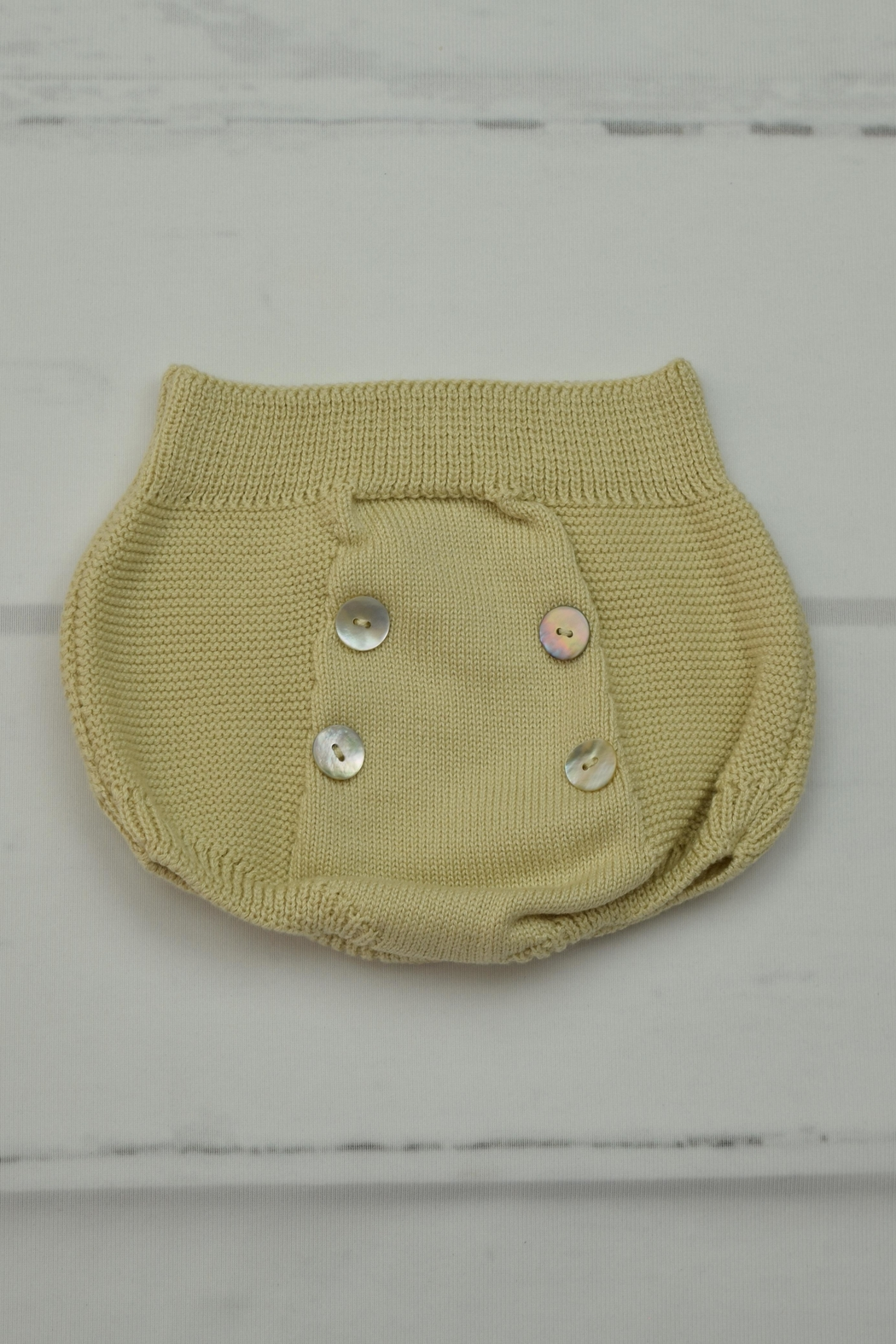 Granlei 1980 Beige Knitted Outfit - Side Cropped Image