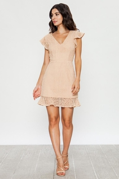 Jealous Tomato Beige Lace Dress - Product List Image