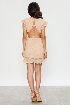 Jealous Tomato Beige Lace Dress - Alternate List Image