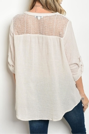 Tassels N Lace Beige Lace Top - Front full body