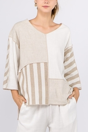 Et Lois Beige Linen top - Product Mini Image
