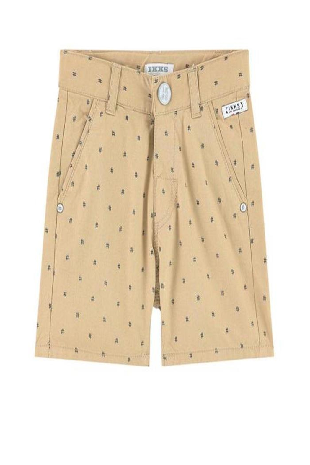 IKKS Beige Printed Shorts - Front Cropped Image