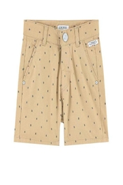 IKKS Beige Printed Shorts - Front cropped