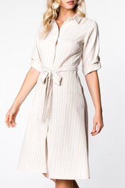 Compendium boutique Beige Shirt Dress - Product Mini Image