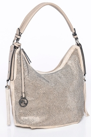 Frank Lyman Beige/Silver Hand Bag - Product Mini Image
