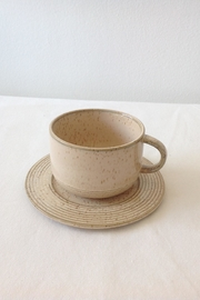 Bloomingville Beige Stoneware Cup - Front cropped