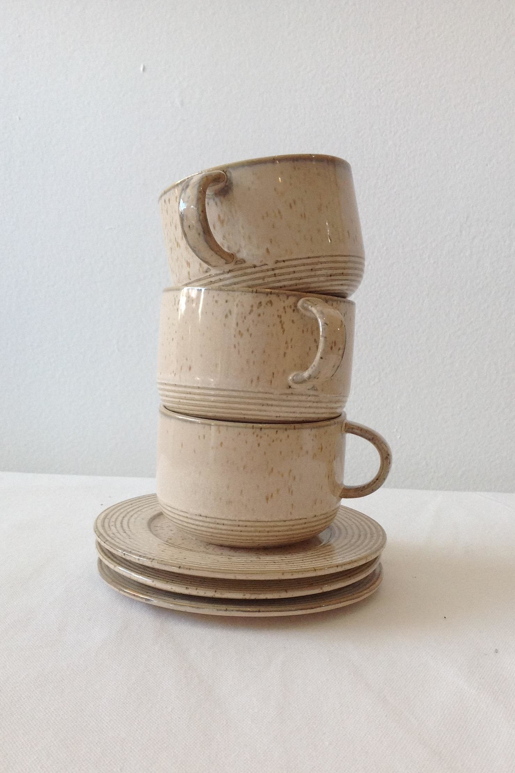 Bloomingville Beige Stoneware Cup - Front Full Image
