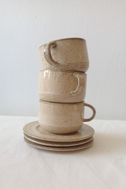 Bloomingville Beige Stoneware Cup - Front full body