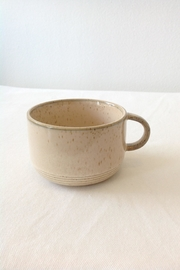 Bloomingville Beige Stoneware Cup - Side cropped