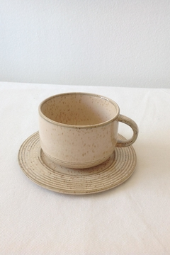 Bloomingville Beige Stoneware Saucer - Product List Image
