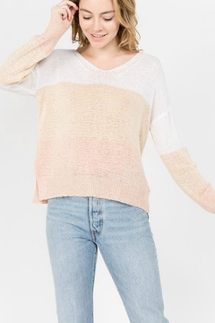 Shoptiques Product: Beige Striped Sweater