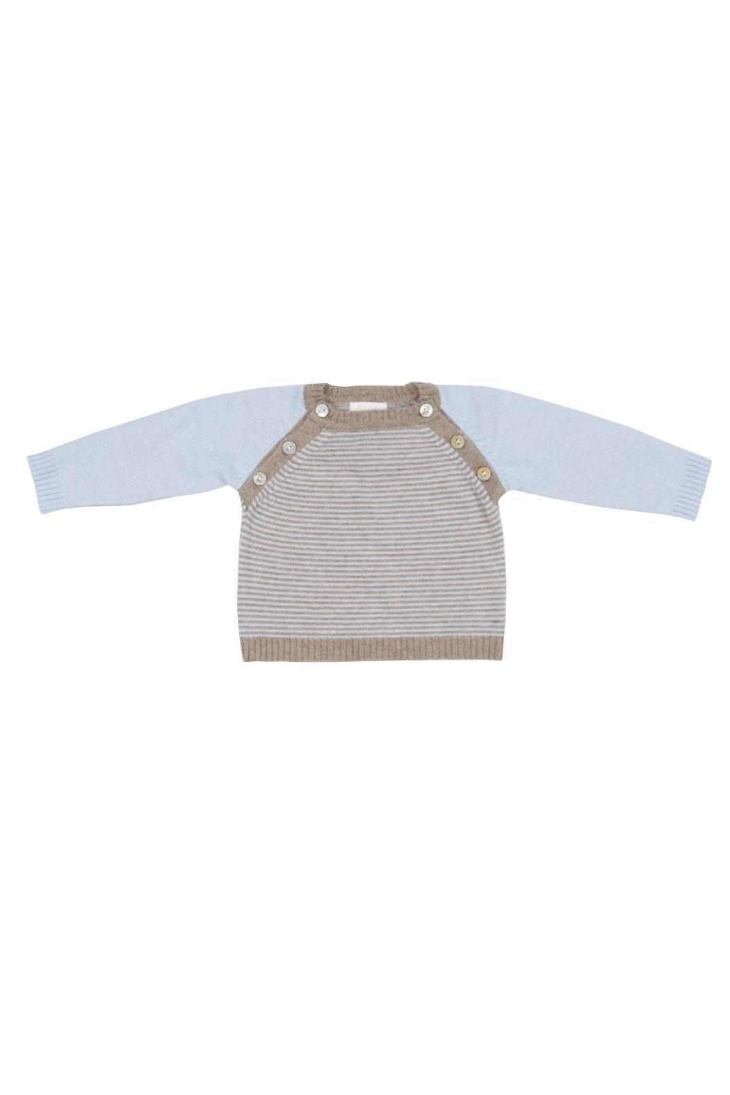 Malvi & Co. Beige Sweater. - Front Cropped Image
