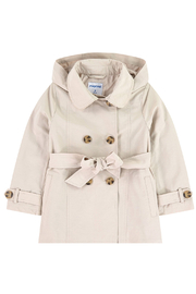 Mayoral Beige Trenchcoat - Front cropped