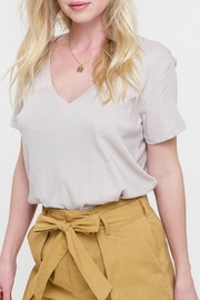 Listicle Beige v-Neck Top - Product Mini Image