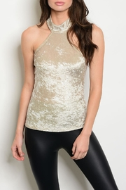 PRIMI Beige Velvet Top - Product Mini Image