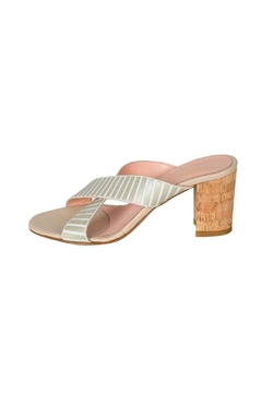 Shoptiques Product: Beige-White Stripped Mule
